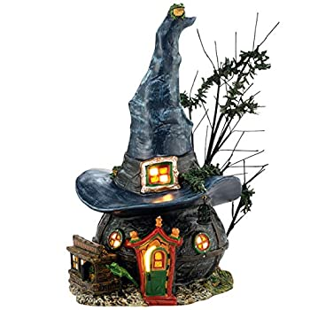 Department 56 Snow Village Halloween Witch Hollow Toads and Frogs Witchcraft Haunt Lit House 5.91 Inch Multicolor