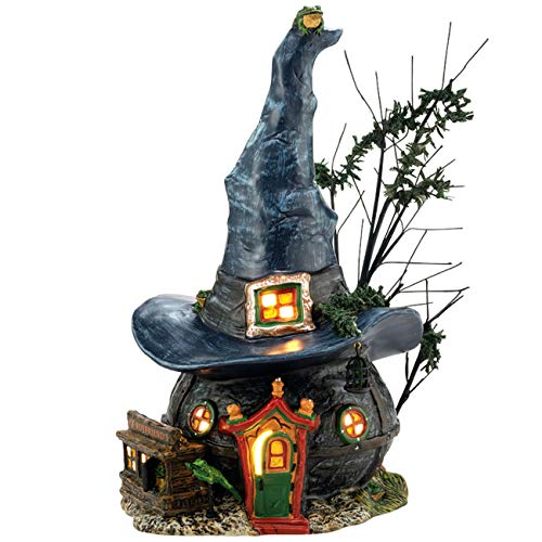 Department 56 Snow Village Halloween Witch Hollow Toads and Frogs Witchcraft Haunt Lit House, 5.91 Inch, Multicolor