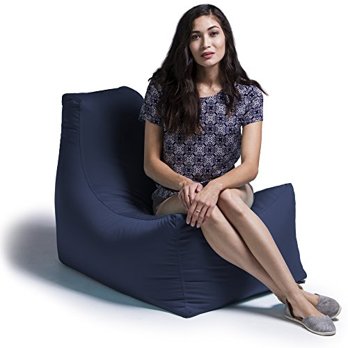 Jaxx Juniper Outdoor Bean Bag Patio Chair, Navy