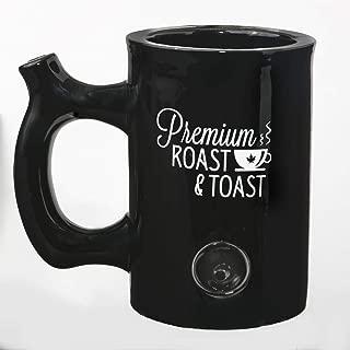 Premium Roast And Toast Ceramic Black Mug
