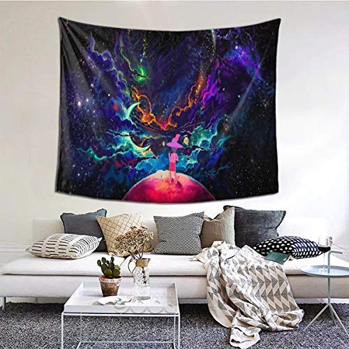 "The M-Idnight Gospel Tapestry Anime Tapestry Wall Hanging for Bedroom Living Room Wall Decoration Birthday Gifts 60"" X51"""