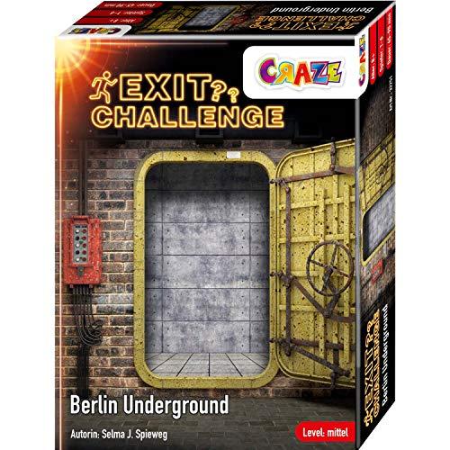 CRAZE EXIT Challenge Berlin Underground Game ab 8 Jahren, Level: Mittel, Bis zu 6 Spieler, 32251, Escape Room