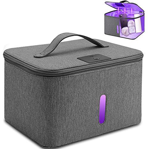 UV Light Sanitizer Box Disinfection Box - USB LED UV Sterilizer Bag Cabinet, Kills 99.9% of Harmful Substance, Large Capacity for Baby Bottle/Phone/Toothbrush/Beauty Tools/Underwear Sterilization