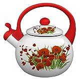 Emaille Teekanne Wasserkocher Kessel Küche Neue Haushaltswarmwasserkocher Flachboden-Wasserkocher...