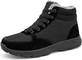 [NAUVENO] トレッキングシューズ メンズ ウォーキングシューズ ハイキングシューズ スノーブーツ 登山靴 スポーツ アウトドア キャンプ シューズ クライミング 通気性 ハイカットスエード 靴 男性用 カジュアル スニーカー 防滑 防寒 通気 四季通用
