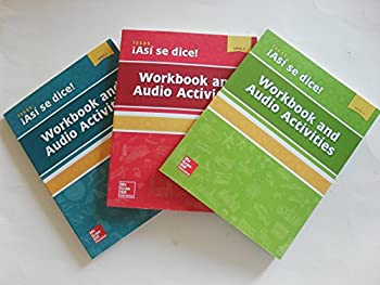 Asi se dice! Workbook and Audio Activity [Level 1 level 2 and level 3 ]- Texas Edition  Paperbacks