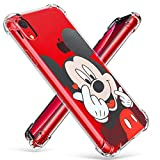 "Logee TPU Mickey Mouse Cute Cartoon Clear Case for iPhone XR 6.1"",Fun Kawaii Animal Soft Protective Shockproof Cover,Ultra-Thin Chic Unique Funny Character Cases for Kids Teens Girls Boys(iPhoneXR)"