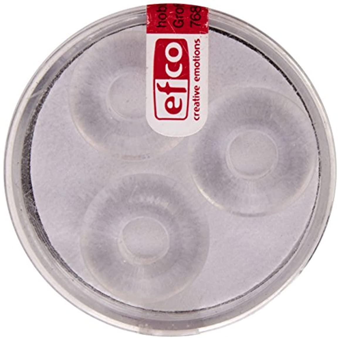Efco Glass Bead Ring Big Hole 11 x 17 mm / 6 mm 3 pcs. Crystal, 3 x 3 x 2 cm