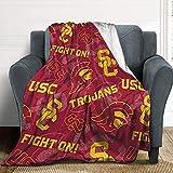 USC Tone Fleece Blanket, Anime Cartoon Warm Ultra-Soft Throw Blanket, Fashion Home Decoration Blanket 40''×50''