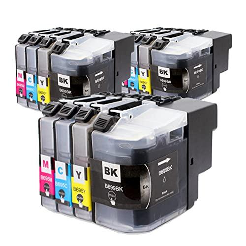 RICR Cartuchos De Tinta Remanufacturados para LC 699 695 De Repuesto, Accesorios Compatibles Utilizados para La Impresora para Brother MFC-J2320 MFC-2720 Modelos (Traje D Three Sets