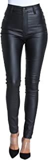 Best black wax coated skinny jeans womens Reviews