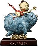 Ybzx Symbole de Richesse Statue Chinois Zodiaque Cochon année Pur cuivre Porc Ornements Figurines à Collectionner Table décor Statue Chanceux Figurine 1125