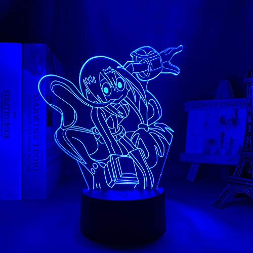 New 2021 3D Lamp 3D Light Anime My Hero Academy Academic ASO Tsurui Light Bedroom Decoration Birthday Gift Tsuyu Asui led Night Light Froppy Valentine's Day HOICHAN