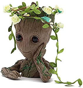 LOVE YOUR GROOT: Bring joy to your home, office, or garden. Perfect for the holidays, for children or co-workers. DESIGNED WITH CARE: Each pot is carefully inspected and created to contain a beautiful color design meeting your visual expectations. MU...