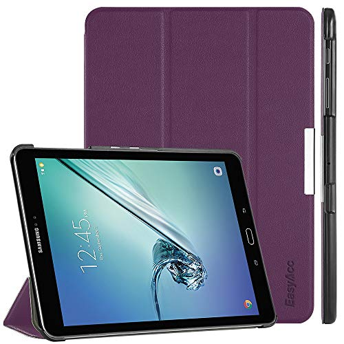 EasyAcc Hülle für Samsung Galaxy Tab S2 9.7, Smart Cover mit Standfunktion Auto Wake Up Sleep PU Leder Hüllen Kompatibel für Samsung Galaxy Tab S2 9.7 Zoll (T810/ T813/ T815/ T819), Lila