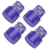 ASUNCELL 4 paquetes de filtros de Hepa lavables para Dyson V10 SV12, aspiradora inalámbrica Cyclone Animal Absolute Total Clean, aspiradora inalámbrica, reemplazo # DY-969082-01
