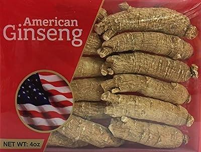 Hand-Selected A Grade American Ginseng Large Medium-Short Size (4 Oz. Box)