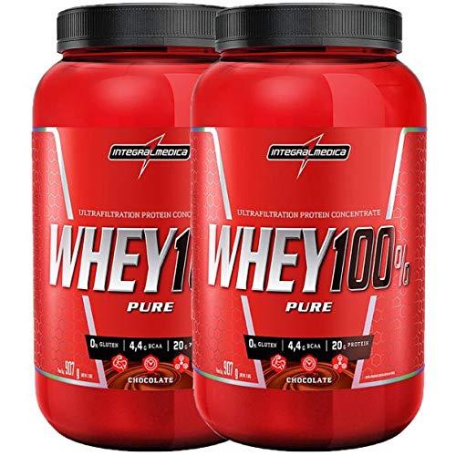 kit 2x Whey 100% Pure 907g Chocolate e Chocolate Integralmedica
