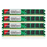Kuesuny 8GB Kit (4X2GB) DDR2 800MHz Udimm Ram PC2-6400 PC2-6400U 1.8V CL6 240 Pin 2RX8 Dual Rank Non-ECC Unbuffered Desktop Computer Memory Ram Module Upgrade