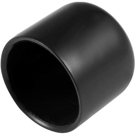 "25pcs 1/"" Round Black Vinyl End Cap Screw Thread Protector Rubber Caps 25mm"
