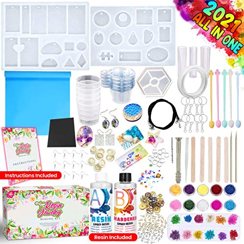 GoodyKing Resin Jewelry Making Starter Kit - Silicone Casting Mold, Tools Set...