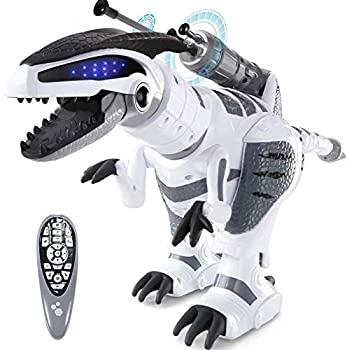 SGILE RC Dinosaur Robot Toy Smart Programmable Interactive Walk Sing Dance for Kids Gift Present
