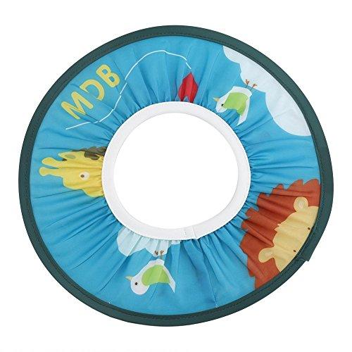 Fdit - Cuffia da doccia, in tessuto impermeabile, per bambini, con elastico blu