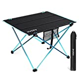 INTEY Folding Picnic Table, Portable Camping Table Ultralight Roll Up with Storage Bag for Outdoors