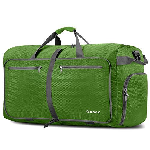 Gonex - Bolsa de viaje plegable (100 L), color verde