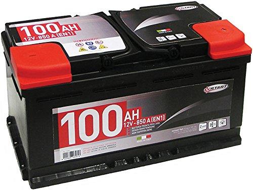 Batteria Auto 100AH 12V 850A polo positivo destro cassetta L5
