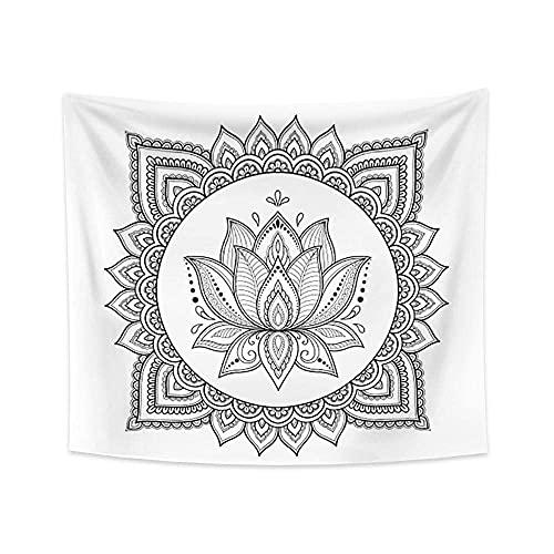 Tapiz bohemio Moda Tapiz Mandala negro y blanco ojo diagrama aislamiento Tapiz decorar la vida hogar 130x150cm/M