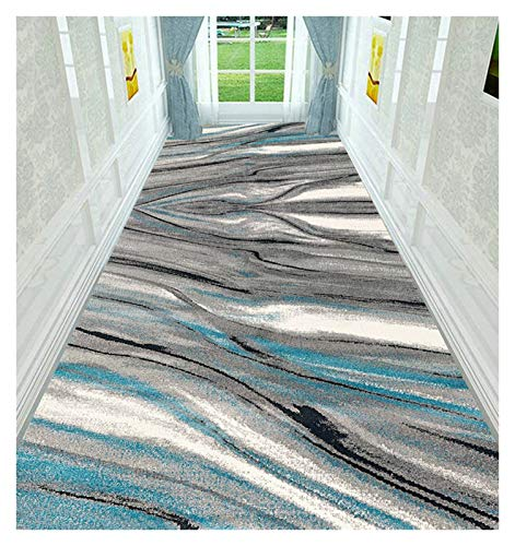 ditan XIAWU Eingangstürmatte Korridor Teppich Couchtischmatte rutschfest Wohnzimmer Kann Geschnitten Werden (Color : A, Size : 80x400cm)