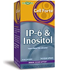 Supports natural killer-cell activity and immune function.* IP-6 (found in the rice bran of brown rice and other foods) and inositol (part of the vitamin B family) are featured together in a unique, powerful ratio found only in Cell Forté IP-6 & Inos...