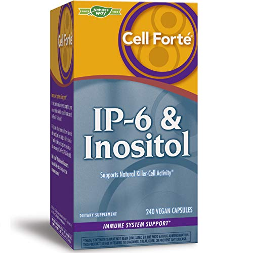 Nature's Way Cell Forte IP6 Inositol Supplement, GlutenFree Vegetarian Capsules, Unflavored, 240 Count. Buy it now for 26.50