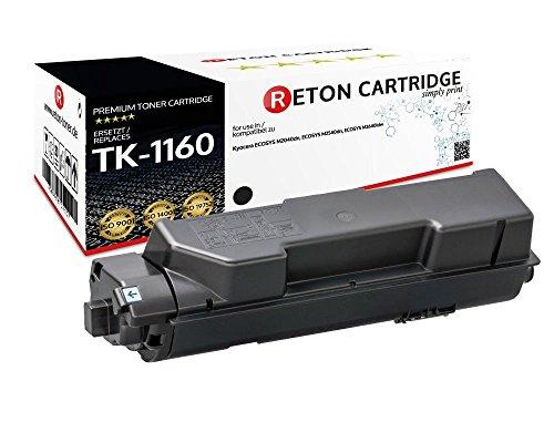 Original Reton Toner | 50% höhere Druckleistung | kompatibel zu TK-1160 für Kyocera ECOSYS P2040dn, Kyocera ECOSYS P2040dw 10.800 Seiten - (3.600 mehr Seitenzahl)