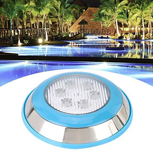 Jacksking Unterwasserlicht, Edelstahlgehäuse IP68 wasserdichte 12V LED Wandhalterung Schwimmbadlampe Spa Unterwasserlicht Pooldekoration(6w)