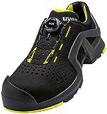 Uvex Low Shoe 65682 S1P Size 42 PU Sole W11, Scarpe Antinfortunistiche Unisex-Adulto, Nero Lime, EU