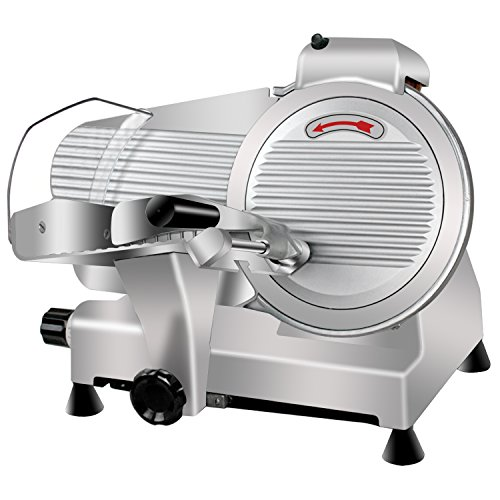 4. Super Deal Commercial Stainless Steel Semi-Auto Meat Slicer