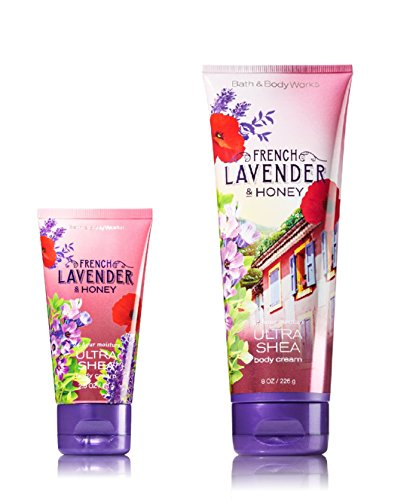 Bath and Body Works One for home & One for Travel – ULTRA SHEA Body Cream Set – French Lavender & Honey