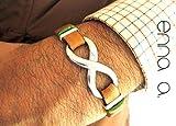Infinity Lederarmband N1, Herren-Accessoires, Herrenarmband, Geburtstagsgeschenk, Ehemann Geschenk, Edelstahlarmband, Vatertagsgeschenk