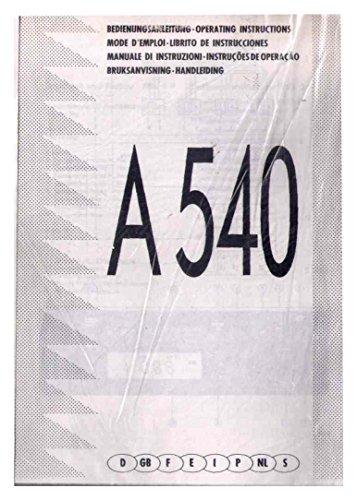A540 Autoradio - Digital Audio mit Kassettenteil-- Bedienungsanleitung, Schematique Diagram (Schaltbild)