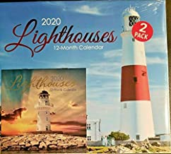 2 Pack of 12 Month 2020 Wall Calendars Lighthouses New Sealed