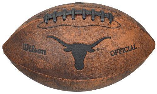 NCAA Texas Longhorns Wilson 22,9 cm Throwback Fußball