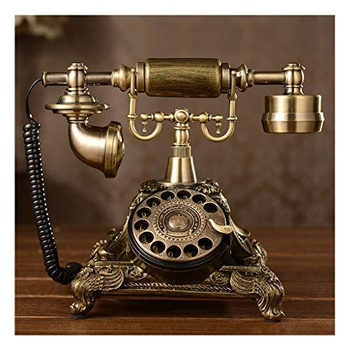 Antiguo escritorio Teléfono Royal Vintage Teléfono con cable Retro Teléfono Retro Rotary Antiguo Auricular Cordon Figurine Cafe Bar Ventana Decoración Modelo para el escritorio para el hogar Decoració