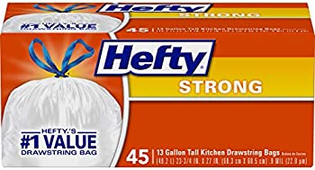 90-Count (2 X 45-Ct) Hefty Strong Kitchen Trash Bags 13 Gallon