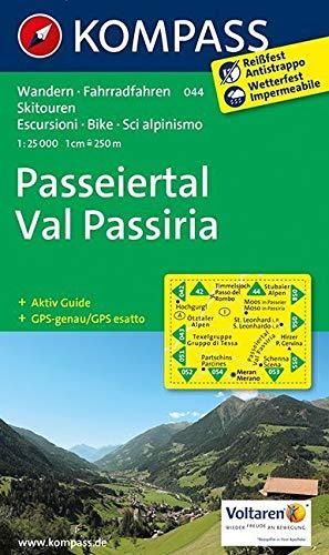 Passeiertal - Val Passiria: Wanderkarte mit Aktiv Guide, Radrouten und Skitouren. GPS-genau. 1:25000: Wandelkaart 1:50 000 (KOMPASS-Wanderkarten, Band 44)