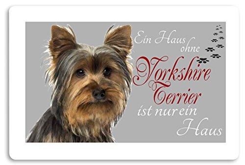 Creativ Deluxe 'Felpudo (Estampado diseño de Animales Perro Felpudo Interior frigo Divertido diseño Felpudo (Yorkshire Terrier