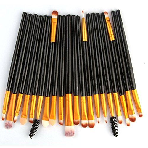 Walaka Pinceaux Maquillages Professionnel 20Pcs/Ensemble Brosse De Maquillage Outils Set Trousse De Toilette Maquillage Laine Maquillage Ensemble Brosse Pinceau Brush