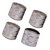 Boutons de dôme JD de guitare basse en métal ; Boutons de réglage du volume sonore pour joint torique à arbre plein ou fendu de 6 mm - paquet de 4 Silver