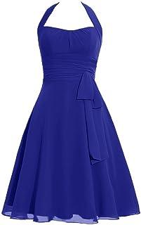 74987535c199 Snowskite Women's Halter Knee Length Chiffon Homecoming Prom Bridesmaid  Dress